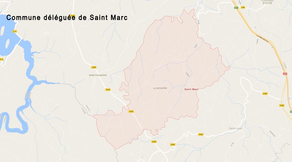 Carte commune-deleguee-saint-marc