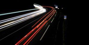 Loubaresse autoroute de nuit