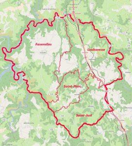 Carte Val d'Arcomie
