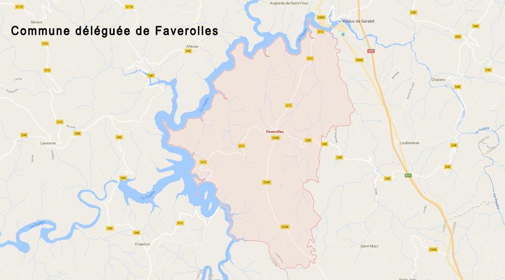 Carte commune déléguée de Faverolles