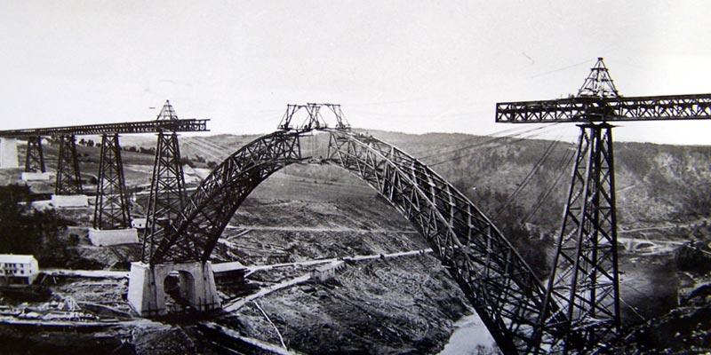 Construction viaduc Garabit