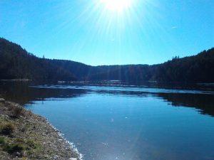 Lac de Garabit soleil- d'hiver